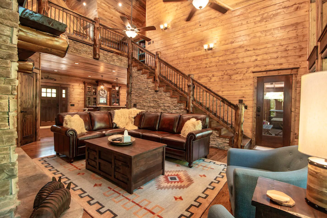 Interior of all spruced up luxury cabin