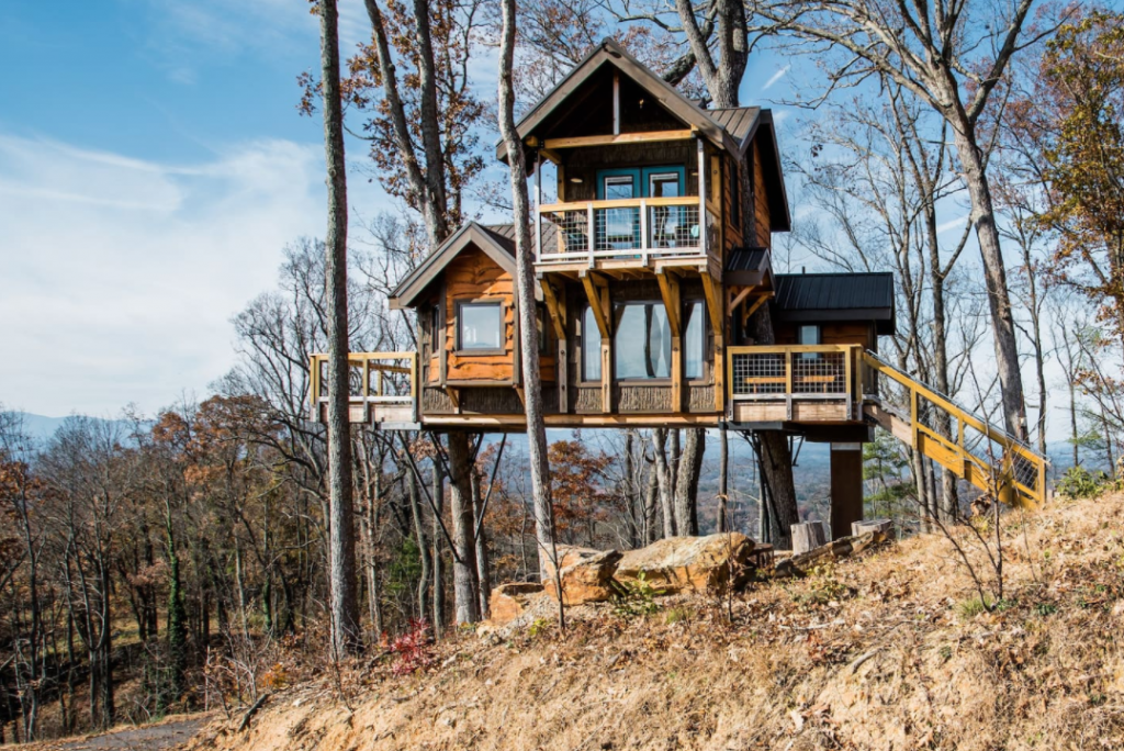 glamping treehouse in Asheville