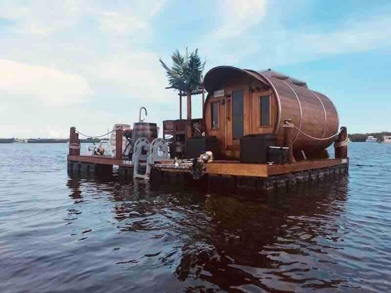 floating barrel cabin
