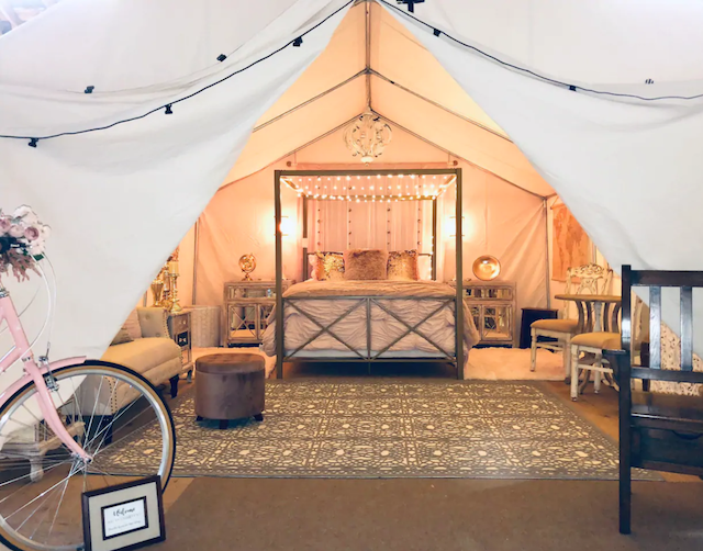 Bicycle Glamping tent