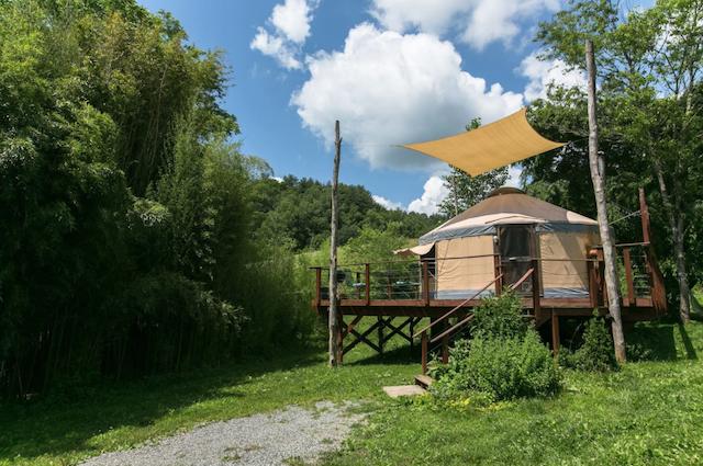 yurt on country farm near Asheville