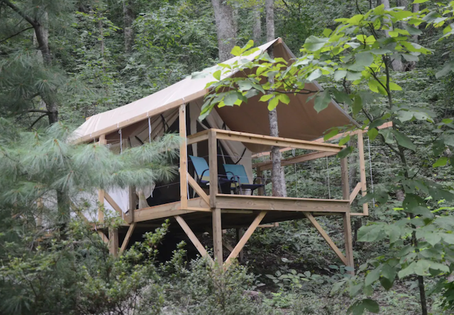 Glamping Tent in Mountains near Asheville