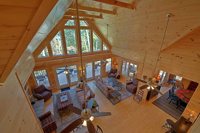 High Top Mountain Luxury Cabin interior