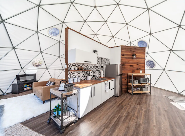 Dome glamping in Asheville