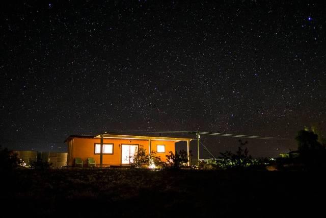 Magic Hour Desert Homestead at night