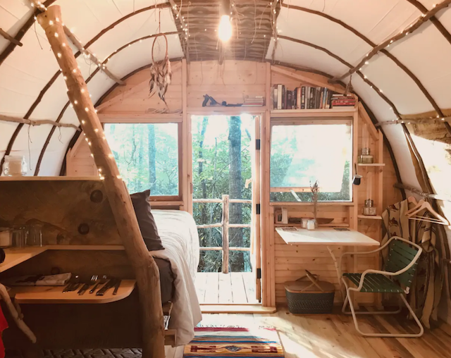 The Roost Tiny Home rustic interior