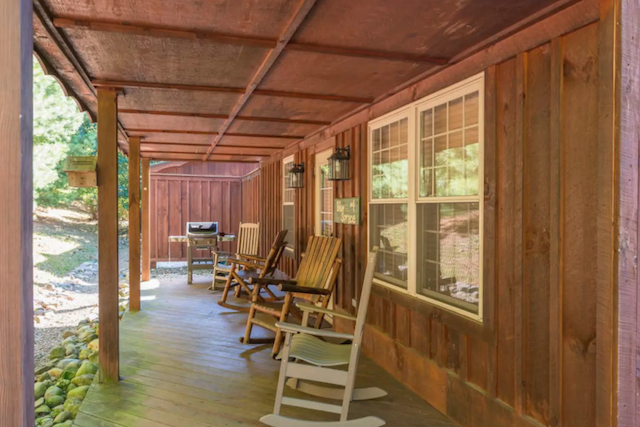 Blue Spruce Cabin front porch