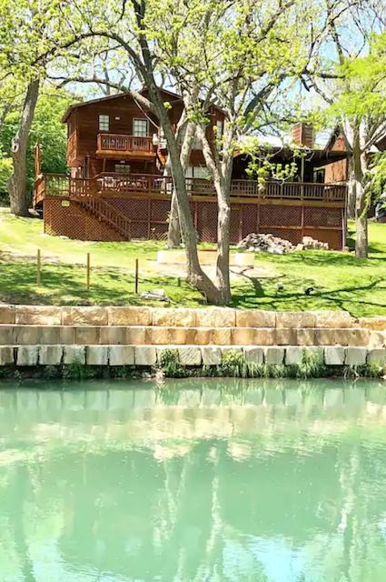 family cabin on Guadalupe river