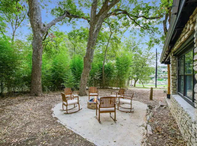 Riverfront Cabin with Firepit in Wimberley Texas exterior