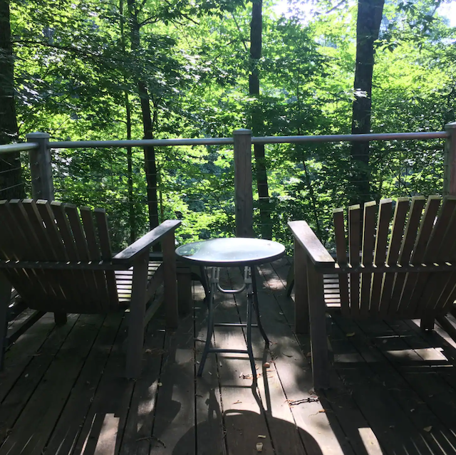 View from porch of Cozy Cabin Close to University