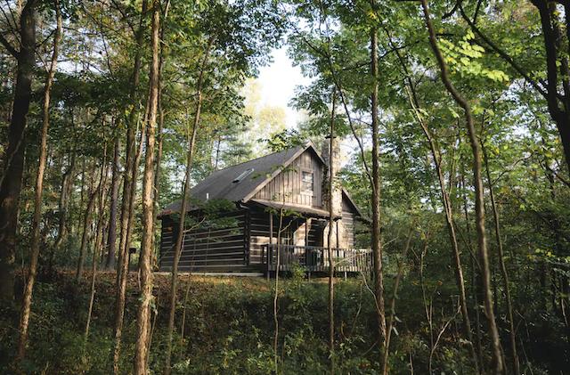 rustic looking cabin exterior