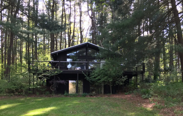 Exterior of dog friendly cabin